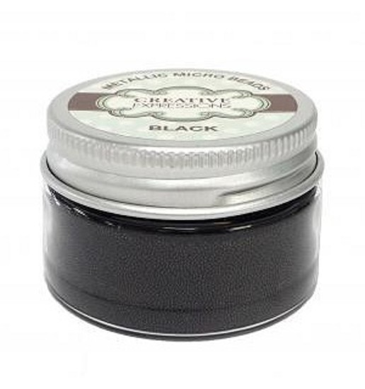 Creative expressions metallic micro beads black 50g for Home craft expressions decor