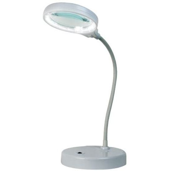 Led desktop magnifying lamp white for Craft lamp with magnifier