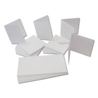 Craft UK Limited 50 White A6 Cards 250gsm and C6 Envelopes