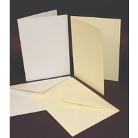 Craft UK Limited 50 White 5x7 Cards and Envelopes 250gsm