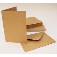 Craft UK Limited 50 Kraft Cards and Envelopes C6