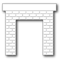 Poppystamps Die Classic Brick Fireplace 1041