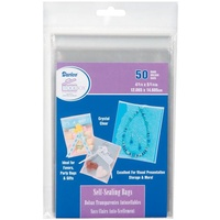 Darice Ultra Clear Self Sealing Bags 4.75 x 5.75 50 Pkg