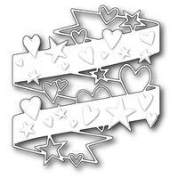 Poppystamps Die Hearts and Stars Wrap 1143