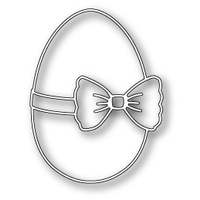 Poppystamps Die Ribbon and Bow Egg 1156