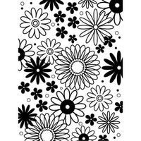 DARICE Embossing Folder Flower Frenzy 10.5cm x 14.5cm
