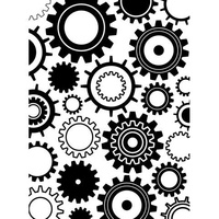 DARICE Embossing Folder Steam Punk Gear 10.5cm x 14.5cm