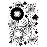 DARICE Embossing Folder Flower Frenzy Background 5x7