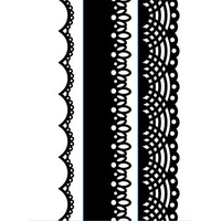 DARICE Embossing Folder Borders Laces 3.5cm x 14.5cm