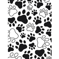 DARICE Embossing Folder Paw Paw Background 10.5cm x 14.5cm