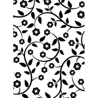 DARICE Embossing Folder Flowers and Vine 10.5cm x 14.5cm