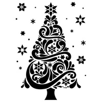 DARICE Embossing Folder Geo Christmas Tree 10.5cm x 14.5cm