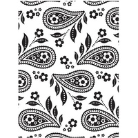 DARICE Embossing Folder Paisley Background 10.5cm x 14.5cm