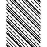 DARICE Embossing Folder Diagonal Candy Cane Stripe Background 10.5cm x 14.5cm