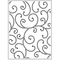 DARICE Embossing Folder Gem Swirl Background 10.5cm x 14.5cm