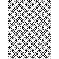 DARICE Embossing Folder Cirlce Interlock 10.5cm x 14.5cm