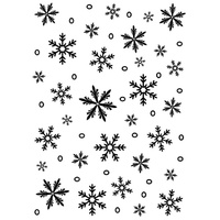 DARICE Embossing Folder Snowflake Background 5x7