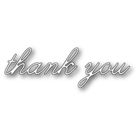 Poppystamps Dies Decor Thank You 1314