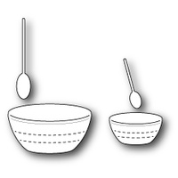 Poppystamps Dies Baking Spoons and Bowls 1321