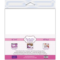Crafter's Companion Construction Cardstock 16x16 10Pk