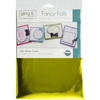 Jelly Bean Green - Gina K Designs Deco Foil 6X8 12/Pkg  FREE SHIPPING