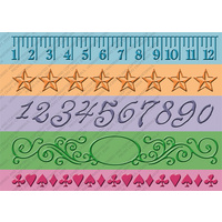 CUTTLEBUG Embossing Folder Border Set Measure by Measure 5x7