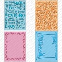 CUTTLEBUG Embossing Folder Set Wall Decor and More 2 x A2 size folders and 2 larger 5x7 folders