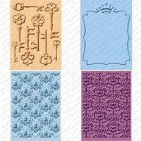 CUTTLEBUG Embossing Folder Set Sentimentals 2 x A2 size folders and 2 larger 5x7 folders