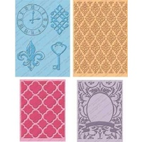 CUTTLEBUG Embossing Folder Set Teresa Collins Timeless 2 x A2 and 2 5x7