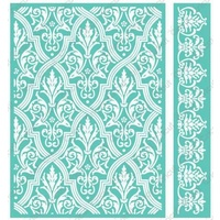 CUTTLEBUG Embossing Folder Anna Griffin Pirouette Border Set 5x7