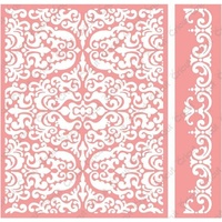 CUTTLEBUG Embossing Folder Anna Griffin Reflected Damask Border Set A2