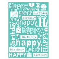 CUTTLEBUG Embossing Folder 5x7 Happy Birthday