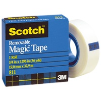 Scotch Removable Tape Matte 19mm x 16.5m