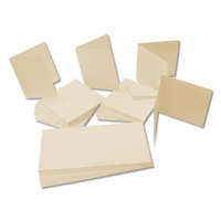 Craft UK Limited 50 Ivory A6 Cards 225gsm and C6 Envelopes
