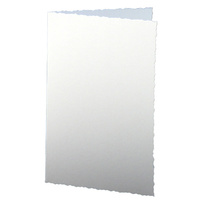 Craft UK Limited 50 White Deckle Edge A6 Cards 250gsm and C6 Envelopes