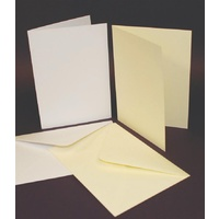 Craft UK Limited 50 Ivory 5x7 Cards and Envelopes 225gsm