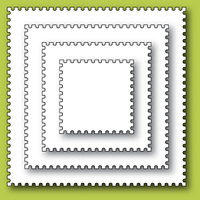 Memory Box Die - Open Studio - Postage Square Layers 30049 FREE SHIPPING