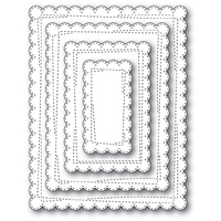 Memory Box Die Wrapped Scalloped Rectangle 30112