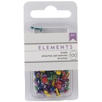 AC Elements Mini Brads 3mm 100/pkg