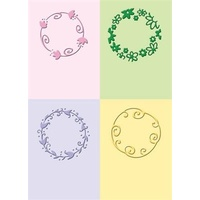CUTTLEBUG Embossing Folder Playful Circles 2x2.75 (Set of 4)