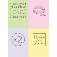 CUTTLEBUG Embossing Folder I Love You 2x2.75 (Set of 4)