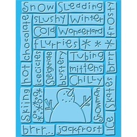 CUTTLEBUG Embossing Folder Sledding 4.25x5.5