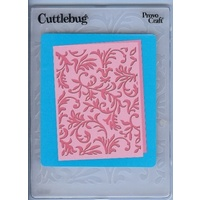 CUTTLEBUG Embossing Folder Victoria 4.25x5.5  FREE SHIPPING