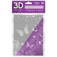 Crafter's Companion 3D Embossing Folder 5X7 Butterfly Trellis