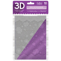 Crafter's Companion 3D Embossing Folder 5X7 French Lace