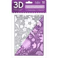 Crafter's Companion 3D Embossing Folder 5X7 Country Garden