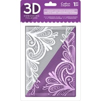 Crafter's Companion 3D Embossing Folder 5X7 Ornate Lace