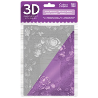 Crafter's Companion 3D Embossing Folder 5X7 Rose Banquet