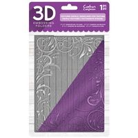 Crafter's Companion 3D Embossing Folder 5X7 Textured Swirls