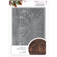 Crafter's Companion 3D Embossing Folder 5X7 Silent Night